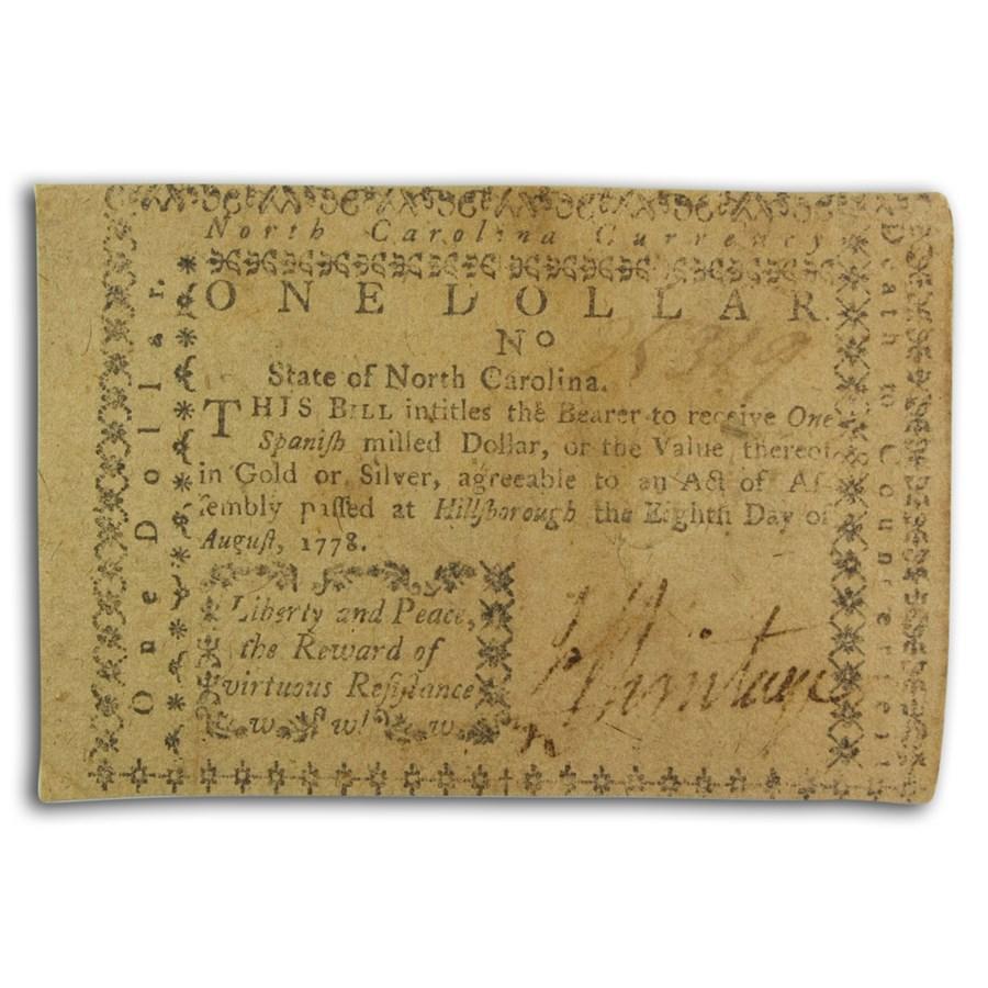 1778 $1 North Carolina 8/8/78 XF (Fr#NC-123)