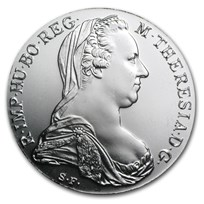 1780 Austria Maria Theresa Silver Thaler AU/BU