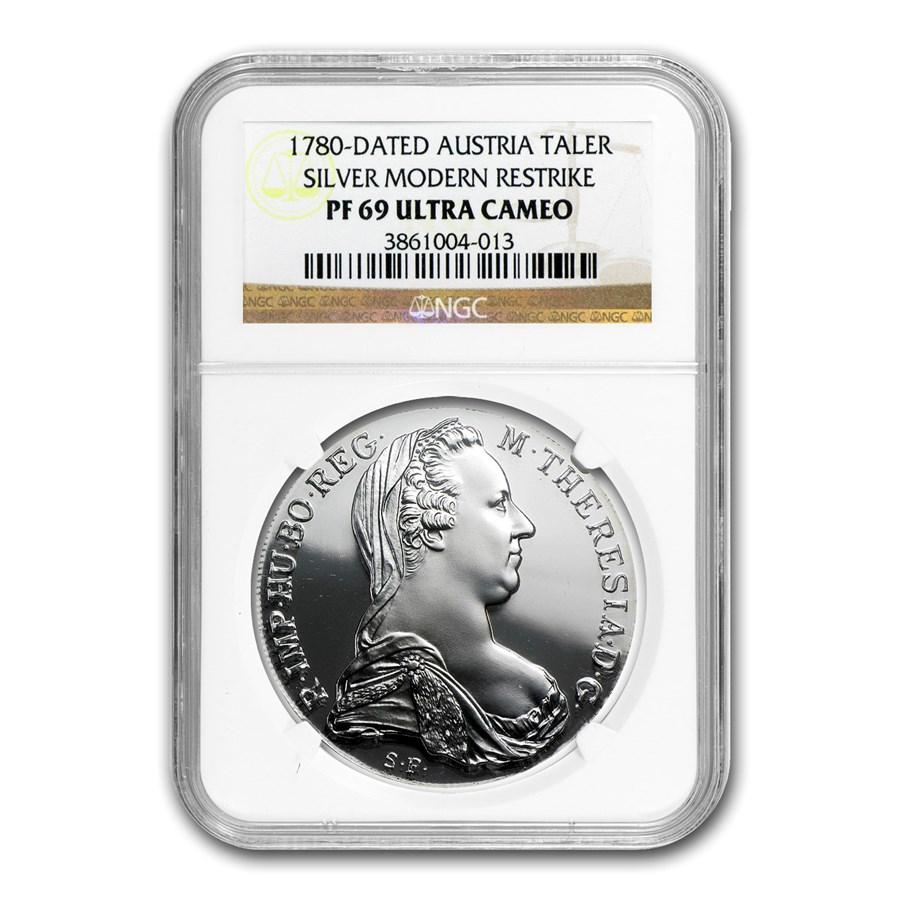 1780 Austria Silver Thaler Maria Theresa PF-69 NGC