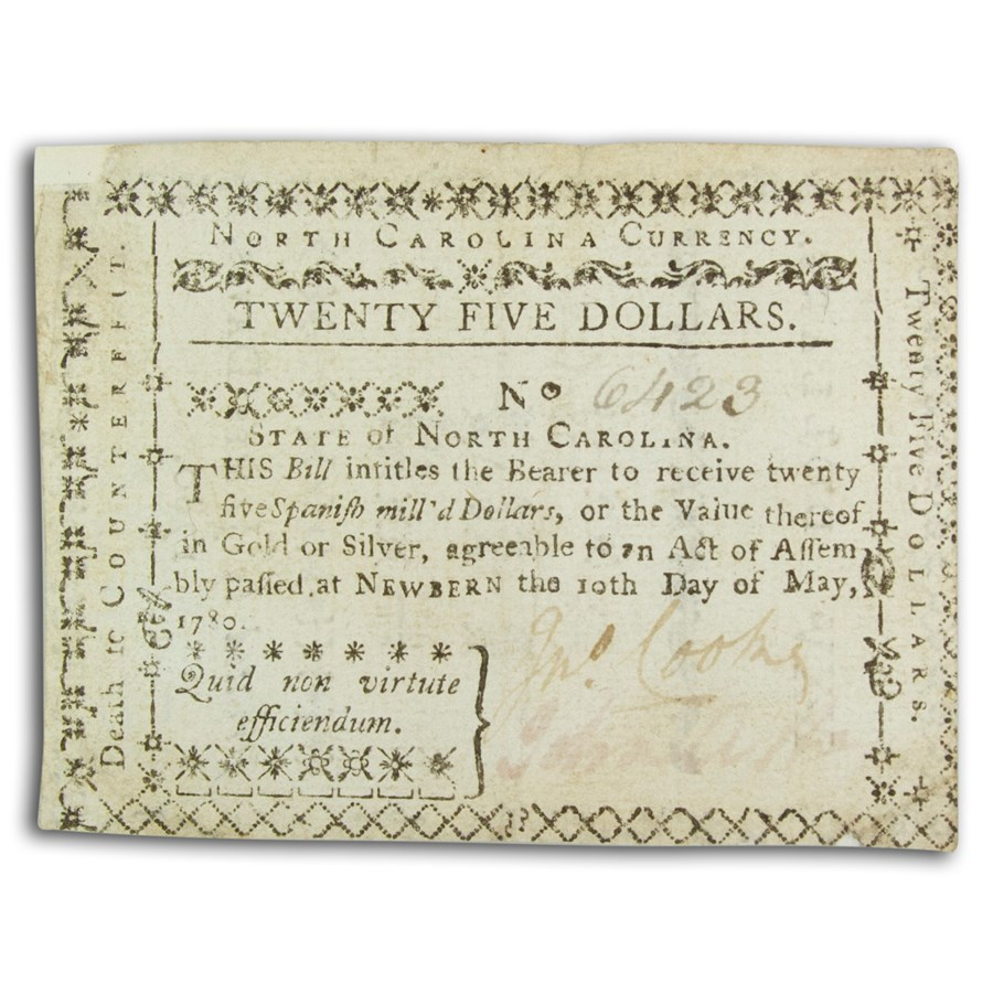 1780 North Carolina $25 5/10/80 XF (Fr#NC-191) Details