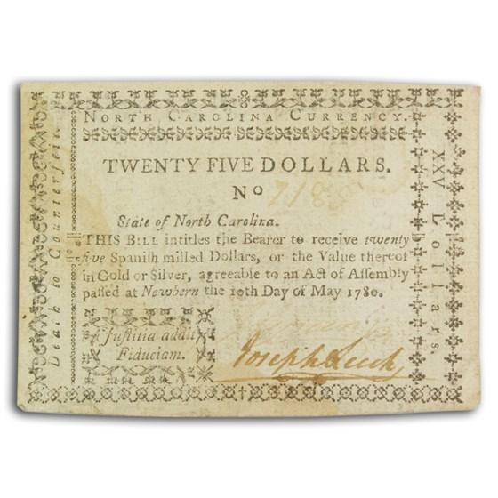 1780 North Carolina 5/10/80 $25 Choice VF (Fr#NC-191)