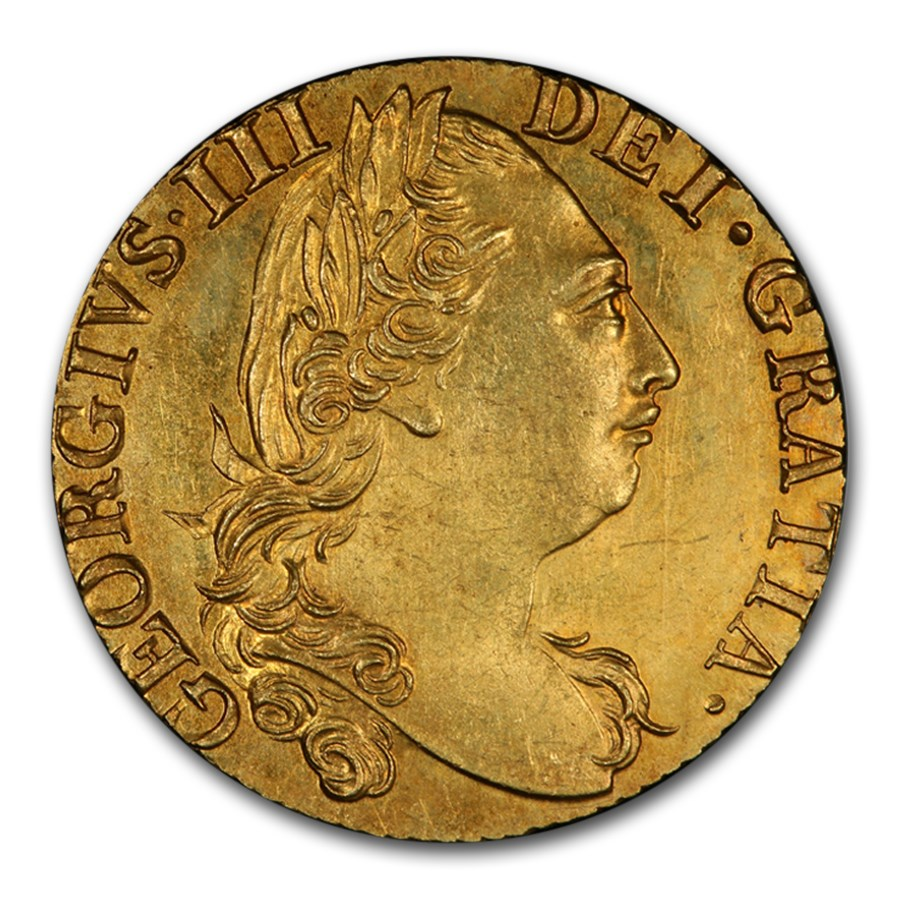 1782 Great Britain Gold Guinea George III MS-63 PCGS