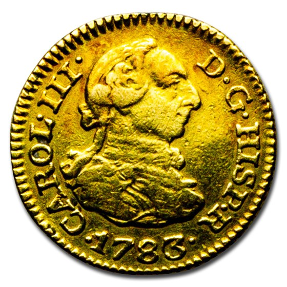 1783-M Spain Gold 1/2 Escudo Charles III VF