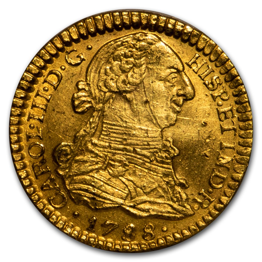 Colombia 1783-P SF 8 escudos - CoinFactsWiki