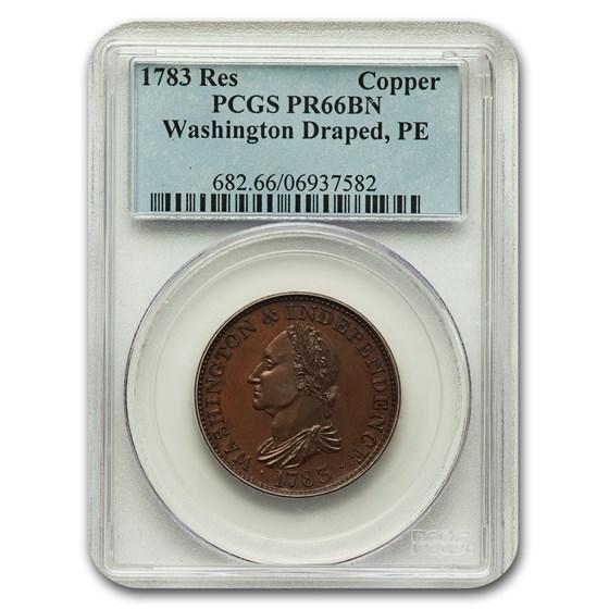 1783 Restrike Washington Draped Bust Token PR-66 PCGS (Brown)