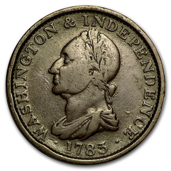 1783 Washington Large Draped Bust Copper Fine