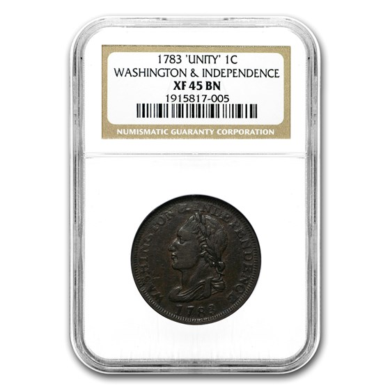 1783 Washington Unity States Copper XF-45 Brown NGC