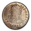 1785 LIMAE-MI Peru Silver 2 Reales Charles III MS-64 PCGS