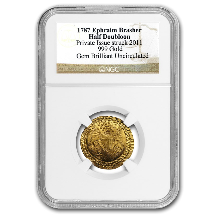 1787-2011 Gold EB Brasher Half Doubloon Gem BU NGC