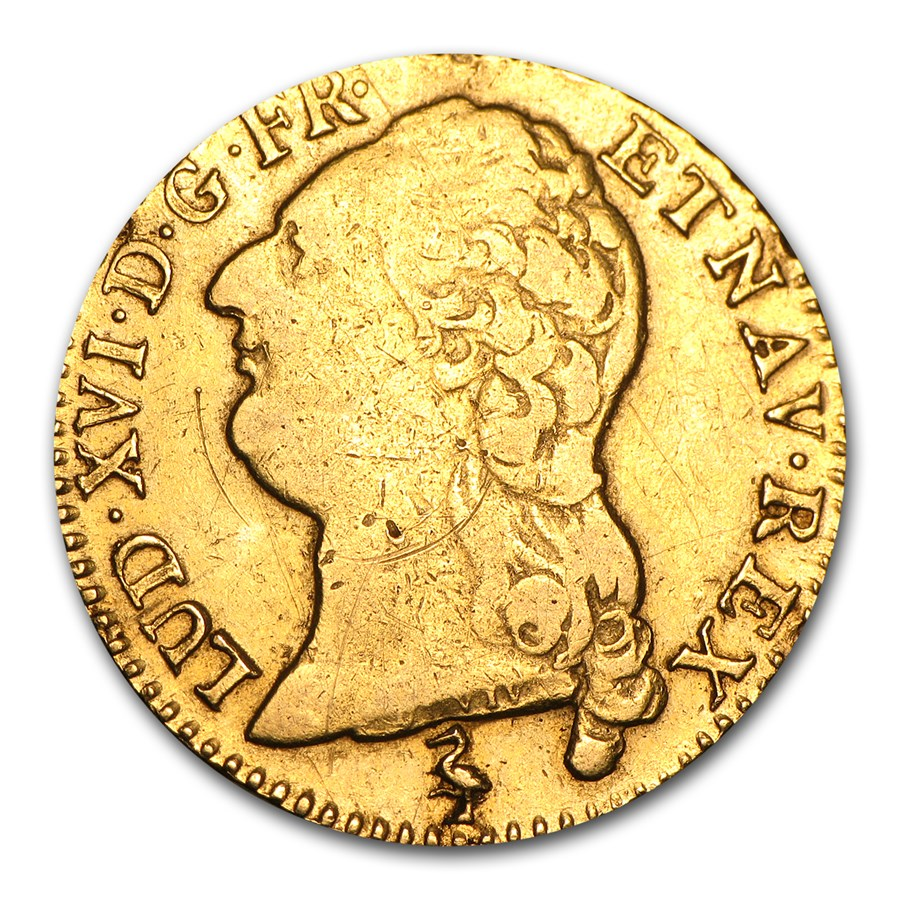 1787-A France Gold Louis D'or VF Details