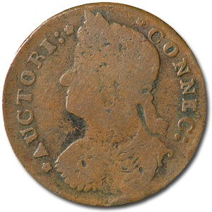 1787 Connecticut Copper Draped Bust Facing Left Fine