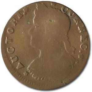 1787 Connecticut Copper Draped Bust Facing Left Fine