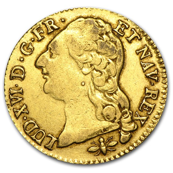 1787-D France Gold Louis D'or XF