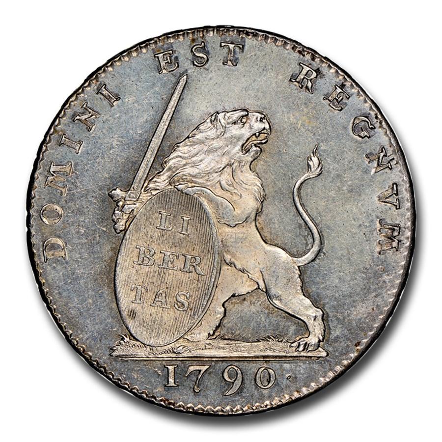 1790 Austrian Netherlands 3 Florins MS-63 NGC