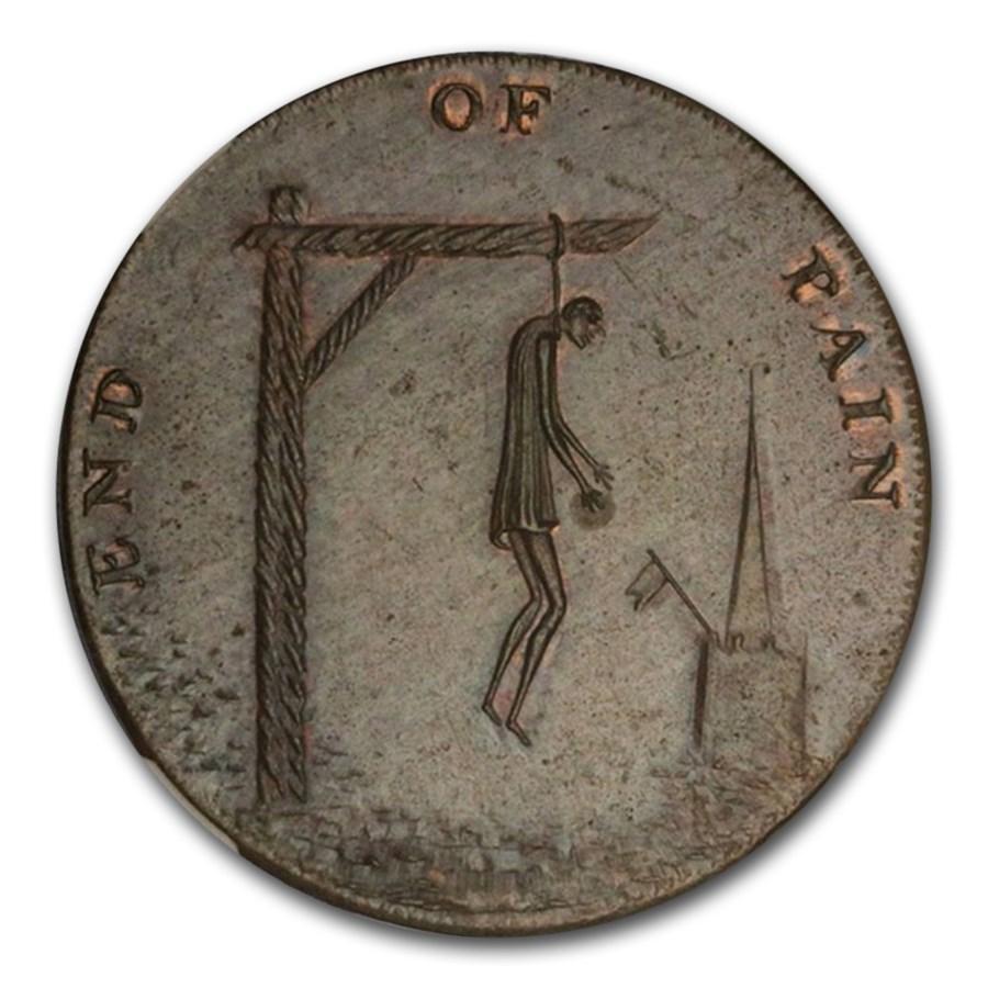 1790 Conder Token End of Pain Halfpenny MS-63 NGC (Brown)