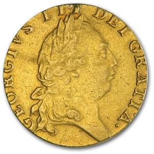 1791 Great Britain Gold Guinea George III Fine