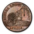 1791 Sierra Leone Company AE Cent PR-64 PCGS (Brown)
