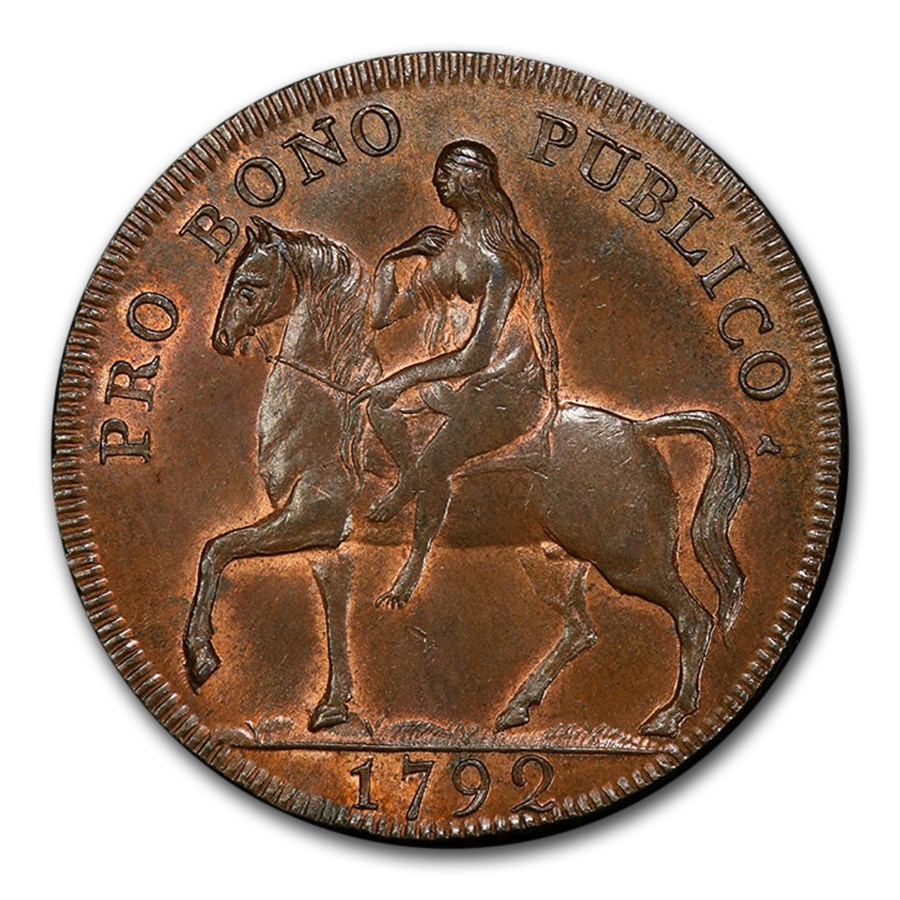 1792 Warwickshire Coventry 1/2 Penny Conder Token MS-65 PCGS (BN)