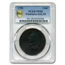 1792 Washington Getz Pattern Cent VF-20 PCGS (Brown)