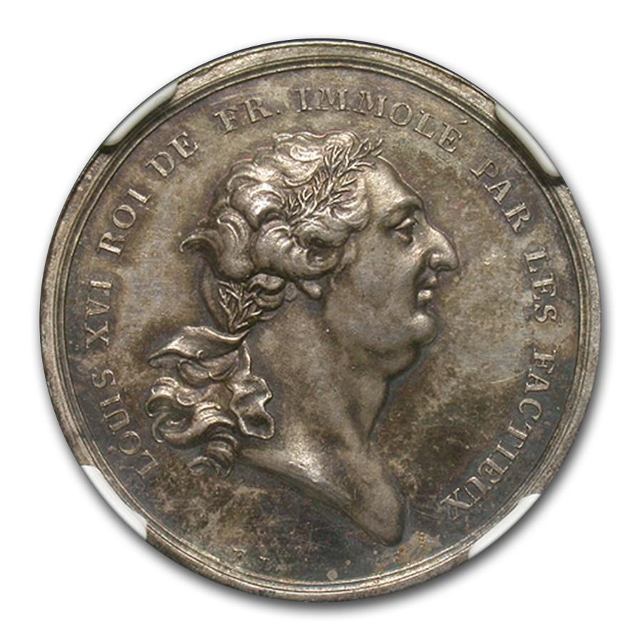 1793 France Execution of Louis XVI Julius-262 Medal MS-64