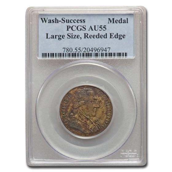 1793 Washington Success Medal AU-55 PCGS (Large Size Reeded Edge)