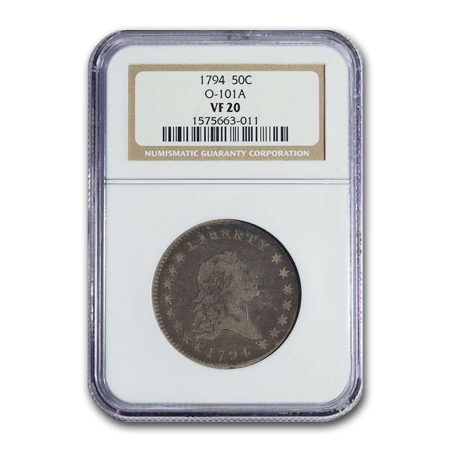 1794 Flowing Hair Half Dollar VF-20 NGC (O-101A)