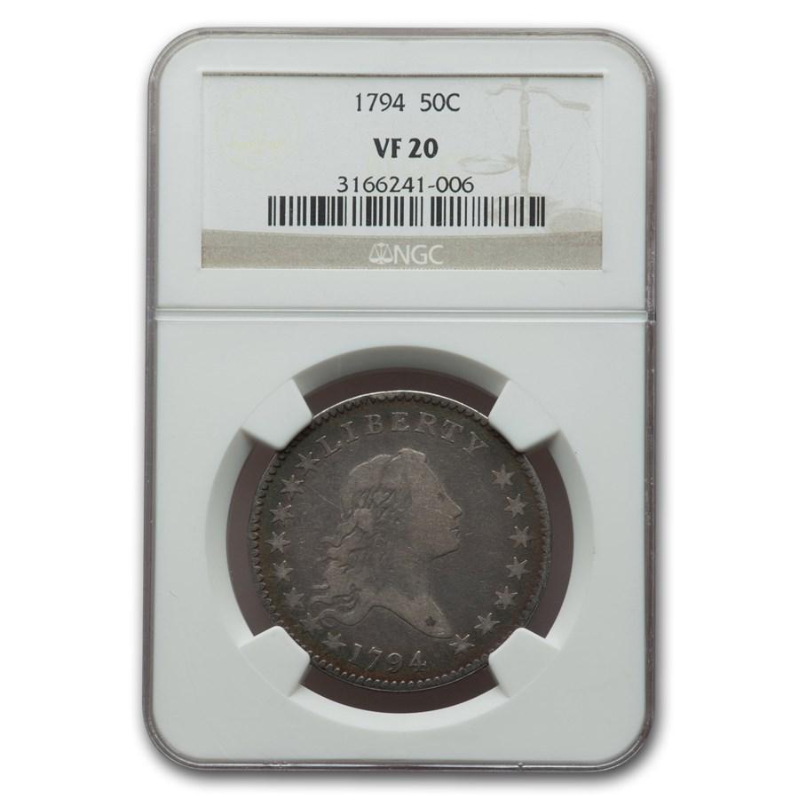 1794 Flowing Hair Half Dollar VF-20 NGC
