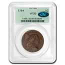 1794 Flowing Hair Large Cent VF-30 PCGS CAC