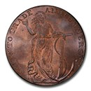 1794 Great Britain Copper Halfpenny Token MS-65 PCGS (Red-Brown)