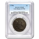 1794 Large Cent Head of 1794 VF-35 PCGS