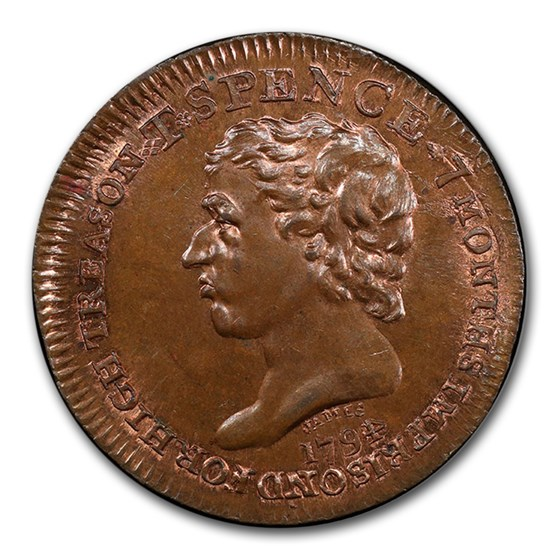 1794 Middlesex Spence's 1/2 Penny Conder Token MS-65 PCGS (BN)