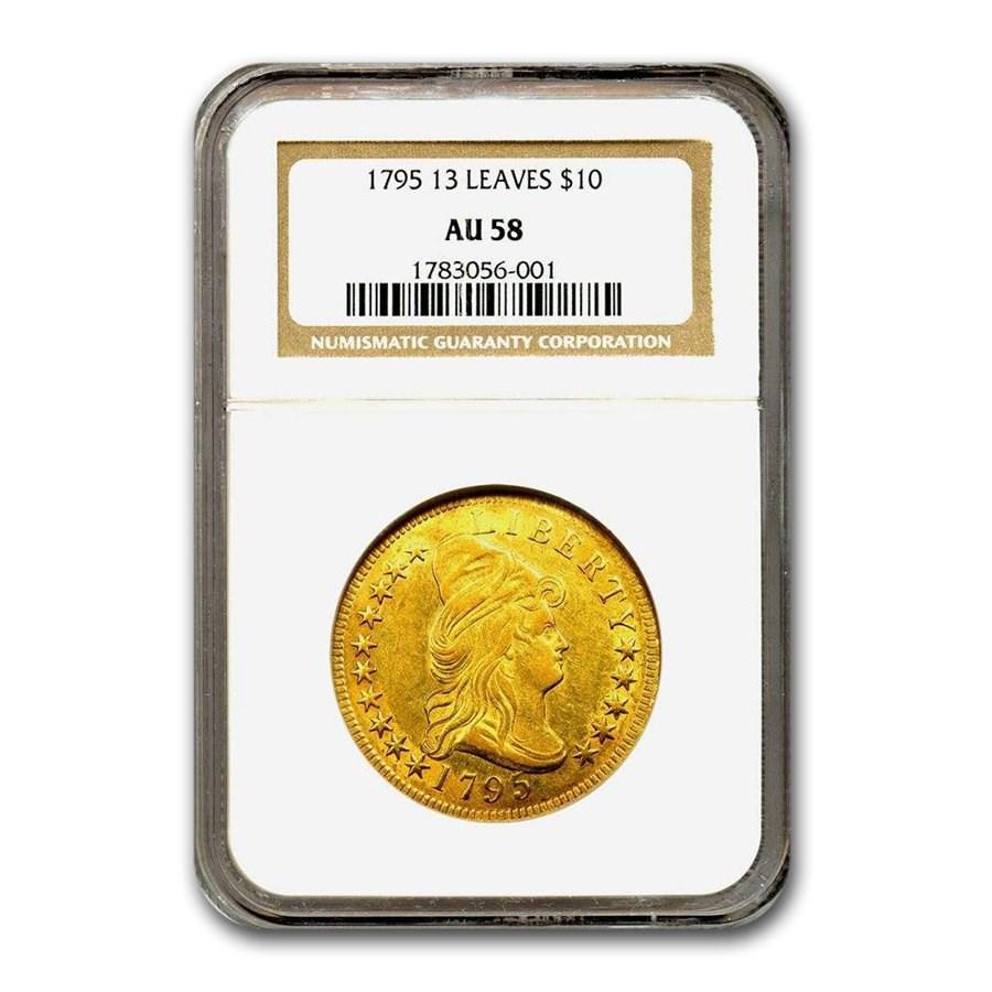 1795 $10 Turban Head Gold Eagle AU-58 NGC
