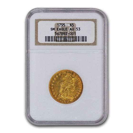 1795 $5 Turban Head Gold Half Eagle AU-53 NGC (Small Eagle)