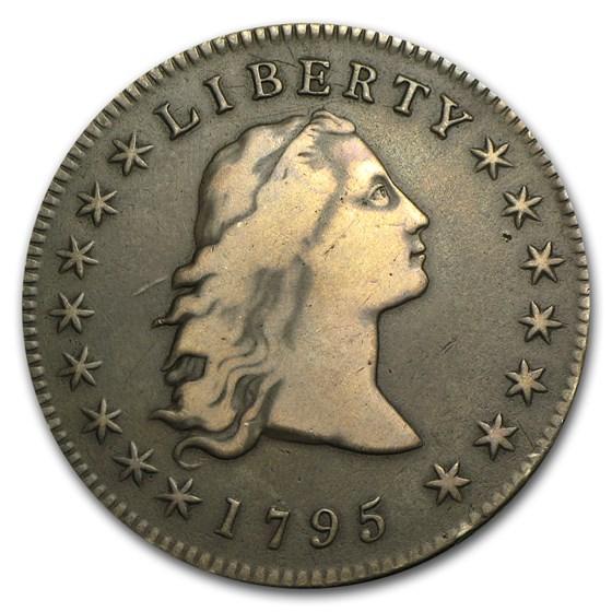 1795 Flowing Hair Dollar VF (3 Leaves)