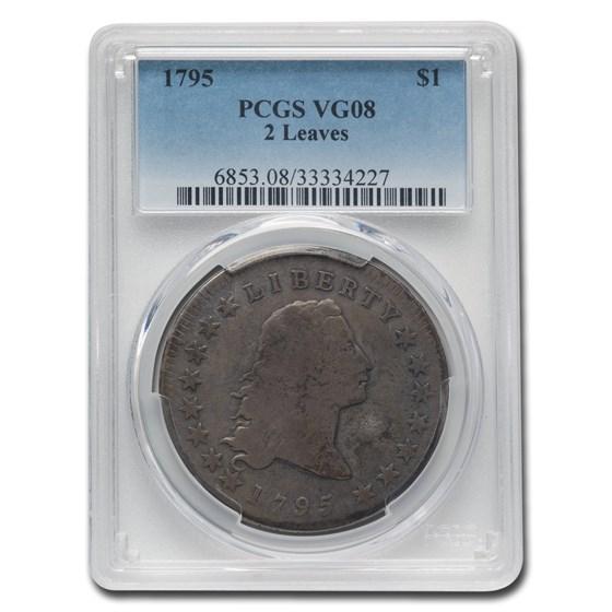 1795 Flowing Hair Dollar VG-8 PCGS (2 Leaves)