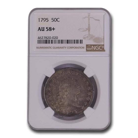 1795 Flowing Hair Half Dollar AU-58+ NGC