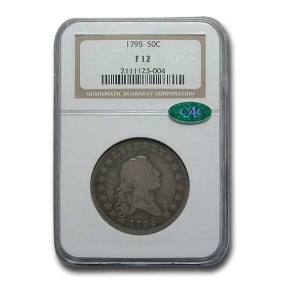 1795 Flowing Hair Half Dollar Fine-12 NGC CAC