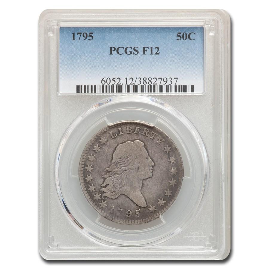 1795 Flowing Hair Half Dollar Fine-12 PCGS