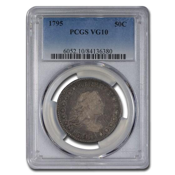 1795 Flowing Hair Half Dollar VG-10 PCGS (2 Leaves)