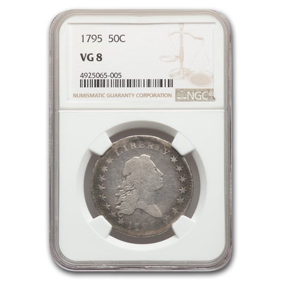 1795 Flowing Hair Half Dollar VG-8 NGC