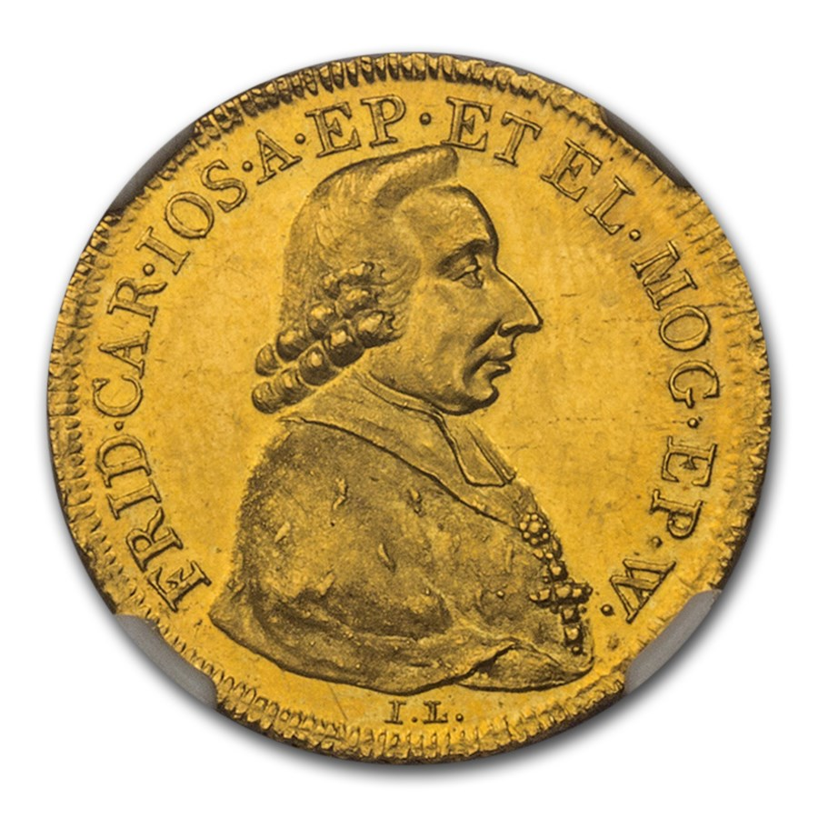 1795 German State Mainz IL/IA Gold Ducat MS-63 NGC