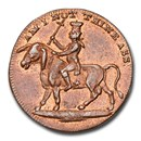1795 Great Britain Middlesex Copper Farthing Token MS-64RB NGC