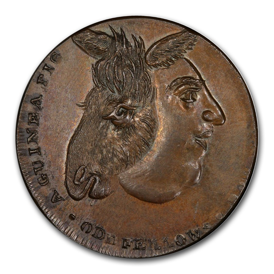 1795 Middlesex Farthing Conder Token MS-65 PCGS (BN)
