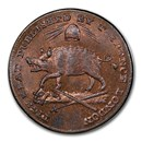 1795 Middlesex Farthing Conder Token MS-65 PCGS (RB)