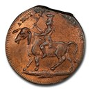 1795 Middlesex Farthing Token Political & Social MS-64 PCGS (RB)