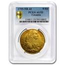 1795-NR JJ Colombia Gold 8 Escudos Charles IV AU-53 PCGS
