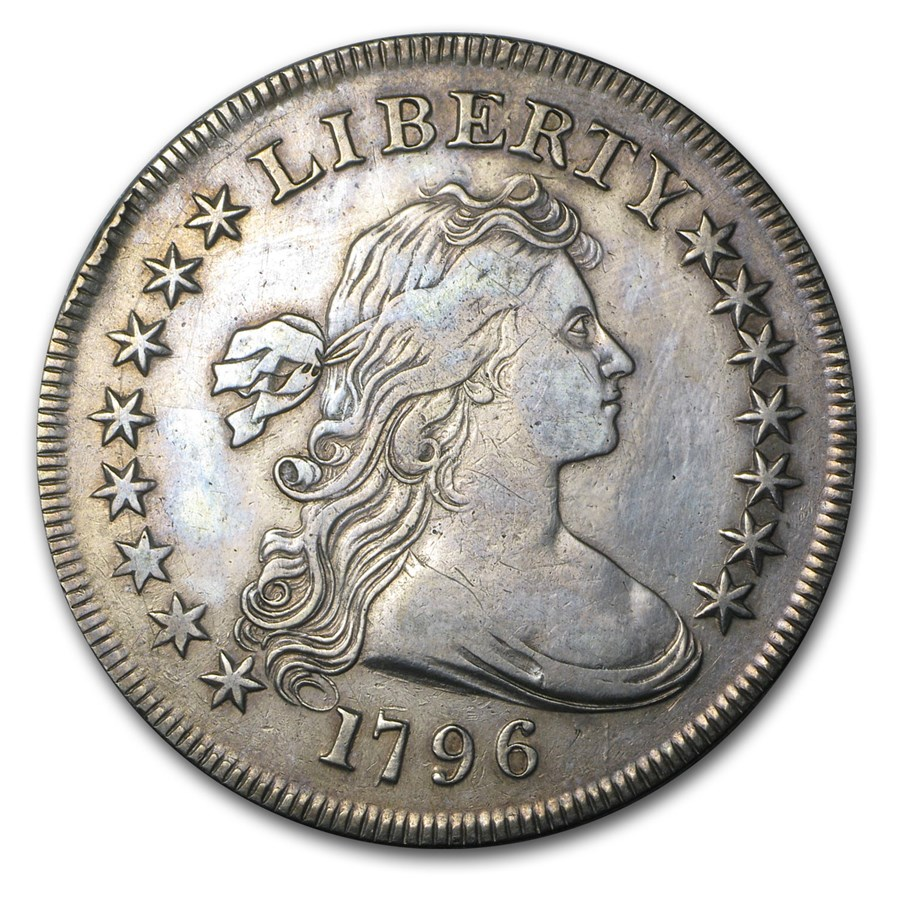 1796 Draped Bust Dollar XF Details (Mint Error)