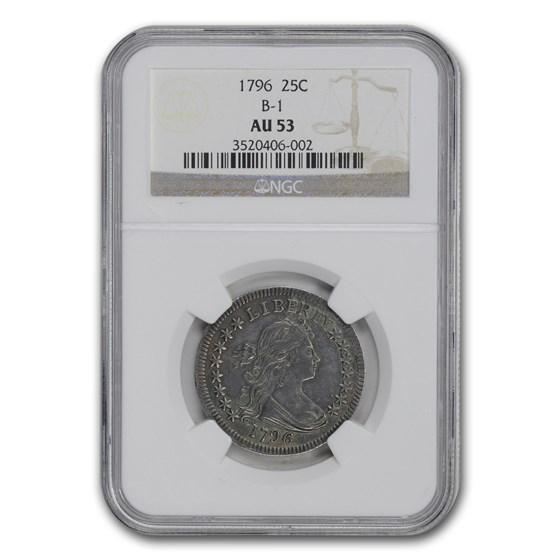 1796 Draped Bust Quarter AU-53 NGC (B-1)