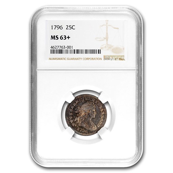 1796 Draped Bust Quarter MS-63+ NGC