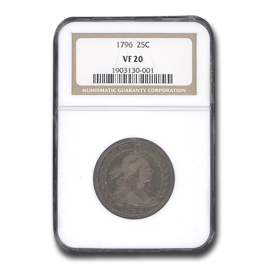 1796 Draped Bust Quarter VF-20 NGC